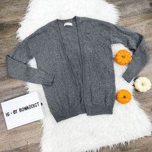 [A&F] Gray Open Front Cardigan